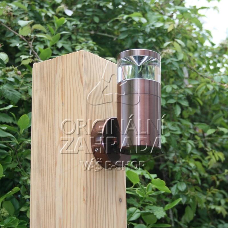 Aries nástěnné svítidlo, stříbrné (Zahradní LED osvětlení - nástěnné svítidlo)