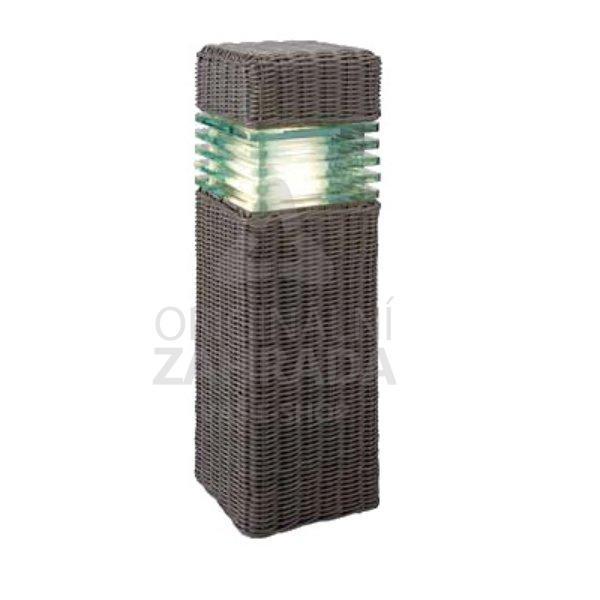 Aton ratan - hnědá, 6W, LED - rozbalené zboží (Zahradní LED osvětlení - samostatné svítidlo)
