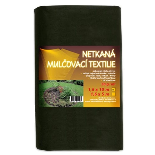 Mulčovací textilie 50g, 3,2m x 5m (Netkaná mulčovací textilie, celá role)