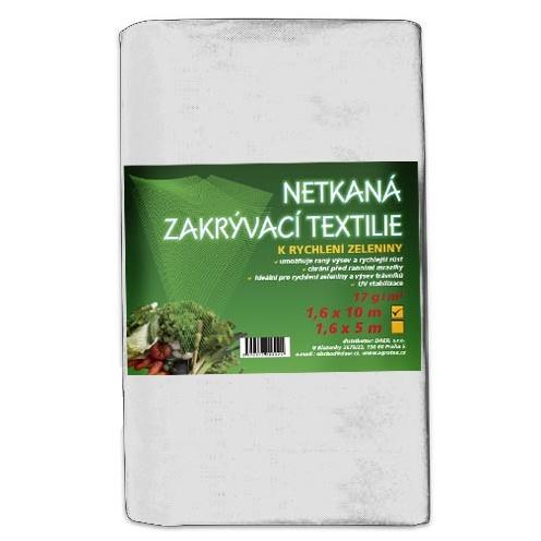 Zakrývací netkaná textilie 17g, 1,6x10m bílá (Netkaná zakrývací textilie, celá role)