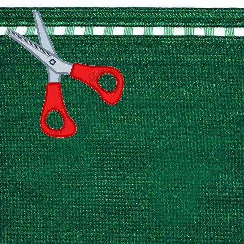 Stínící tkanina 230 g/m2, výška 2,0 m - metráž (100% zelená stínící tkanina)