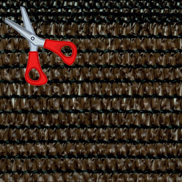 Stínící tkanina 95 g/m2, výška 2,0 m - metráž (90% hnědá stínící tkanina)
