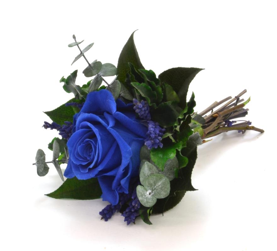 Lucy (Vazba 1x stabilizovaná růže a zelené)