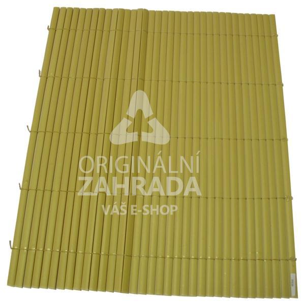 Bambusová rohož okrová, rozměr role 1,2x3,0 m (BAMBOO MAT - Y - bambusová stínící rohož)