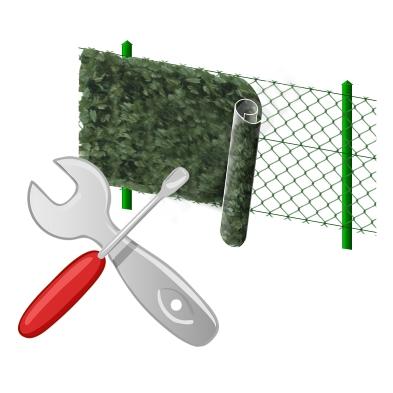 Instalace plotu a rohože
